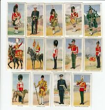 Lot of 14 British Military Cards from 1939 THE BLACK WATCH ROYAL MALTA ARTILLERY