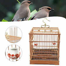 New listing New Bird Cage Solid Square Bamboo Pet Nest Home Feeder With Cage Clothing