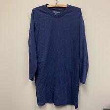 Vermont Country Store Mens Blue Night Shirt Sleep Long Sleeve Cotton Medium