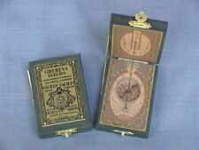 Sundial Compass from Spain-Hand-crafted Wood Case & Decorative Brass Fittings
