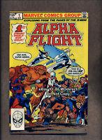 1983 Alpha Flight #1 NM Double Size X-Men Cameo Wolverine Yellow Cover Origin