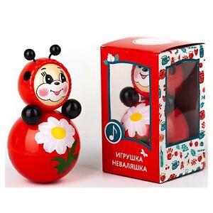 Porfiado Ladybug Muñeca de Selfstabilizing Musical Agitar la Неваляшка