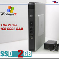 KLEIN MINI COMPUTER PC AMD 2100+ WINDOWS 7 XP PRO HOME SSD 2GB RS-232 DUAL VIDEO