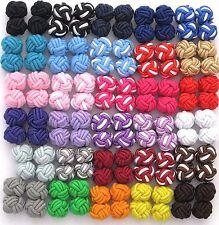 New Pair Silk Knot Cufflinks - Over 30 Colour Options