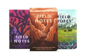 Field Notes Quarterly Edition: National Parks B 3-Pack Memo Book