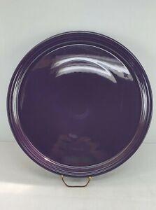"PIZZA cookie TRAY PLATE plum purple FIESTAWARE FIESTA 15"" NEW htf"
