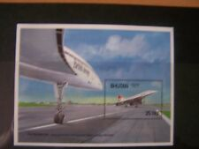 BHUTAN,1987,CONCORDE,AIRCRAFT, M/S,U/MINT,EXCELLENT.