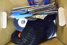 Lot of 141 Different 45rpm Vinyls w/Picture Sleeves & White Promos 062413AMEDB