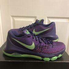 Nike KD 8 Low Basketball Shoes - Purple/Green (749375-535) - Size 8