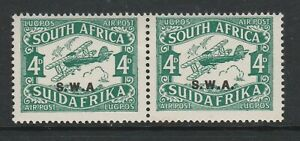 South West Africa 1930 4d Green with No stop after 'A' SG 70a Mint.
