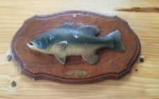 Vintage Large Mouth Bass Wooden Sign