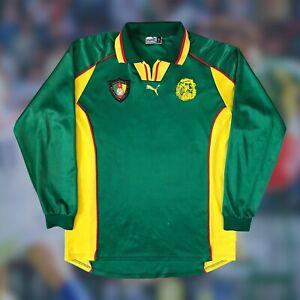 Cameroon 1998/99 International L/S Home Soccer Jersey XL PUMA Camiseta Vintage