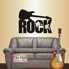 Wall Vinyl Rock Electric Guitar Rock Star Music Guitar Players Wall Sticker 109