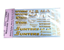 Wynns Sunters ALE 1:50 Waterslide Transfers 50-T7 Colour O Scale Langley Decals