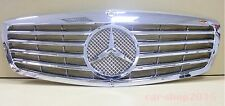 W221 07-09 Front Grille Mercedes Benz S-Class S550 S600 All Chrome w/o Emblem