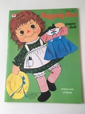 Raggedy Ann Paper Doll Set Press Out Clothes 1970