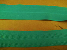 "Foldover Elastic 1"" BLUE GREEN  Chevron 5 yds. Diapers Pet Clothing Headband"