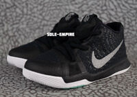 Nike Kyrie 3 TD 869984-018 Toddler Baby Shoes Black Silver White Irving Celtics