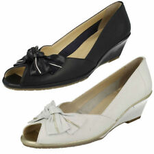Peep Toes 100% Leather Formal Heels for Women