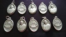 10x Pope Francis Papa Francesco charms Catholic charm Vatican City medal Italy