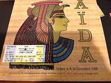 AIDA Theatre Programme International Opera Festival Sydney Plus Ticket Dec 1988