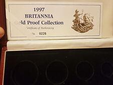 1997 ORO CON PROVA Britannia 4 MONETA Set Box&CoA