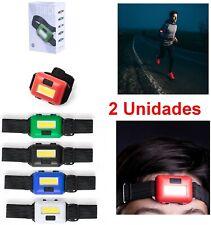2x Linterna LED Cabeza o brazo,cinta ajustable,3posicion,running,deporte,camping