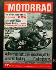 Das Motorrad 17/67 Sachsenring,Bergpreis,MV Agusta 600,BMW R 60-Motor,BMW-Motorr