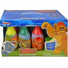 Disney Lion Guard Bowling Set Toy Game Kids Birthday Gift Toy 6 Pins &1 Ball