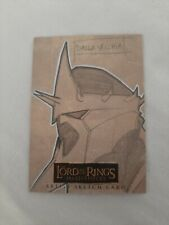 Lord of the Rings Masterpieces 2 Sketch Card by Dalla Vecchia