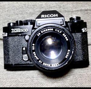 Ricoh XR500 35mm SLR Film Camera w/ XR RIKENON 1: 1.7 50mm Lens! From JAPAN