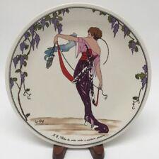 Villeroy And Boch Design 1900 Satin Violet Robe Salad Plate New Art Deco Nouveau