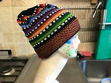 Alpaca Wool Beanie Hat  Hippy festival Hand crafted in Peru  style 9