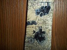 Haines & Bonner of London Necktie Tie Map Oldtime Cars Map 100% Silk