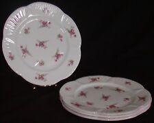 Lot 4 Shelley England Porcelain Dainty Salad Luncheon Plates - Rose Spray 13545