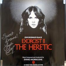 VERY RARE SIGNED LINDA BLAIR HERETIC EXORCIST 2 1977 VINTAGE ORIG MOVIE POSTER