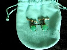 Tiffany & Co. Sterling Silver Sugar Stacks Paloma Picasso Cufflinks Chrysoprase