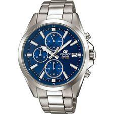 Casio Edifice Quartz Blue Dial Silver Steel Bracelet Men's Watch EFV-560D-2AVUEF
