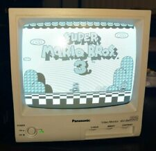 "Panasonic WV-BM990 Retro B/W CRT Monitor 9"" Diagonal Tested Works"