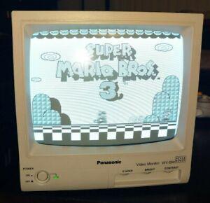 """Panasonic WV-BM990 Retro B/W CRT Monitor 9"""" Diagonal Tested Works"""