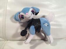 "MGA Bratz Petz Dog  Plush Stuffed 7"" Tall >Pose>Fancy Blue Black Coat Purse"