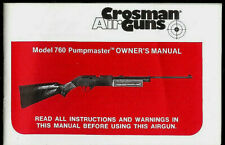 Crosman Model 760 Powermaster Pellet Air Rifle Gun Rare Original Owner's Manual
