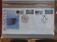 AUSTRALIA 1990 AAT JOINT ISSUE USSR SET 4 STAMPS KINGSTON FDC FIRST DAY COVER