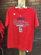 Boy's Majestic St. Louis Cardinals 2015 Post Season T-Shirt NWT Medium 10-12