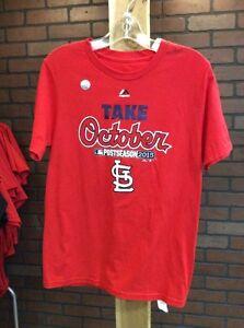 Saint St. Louis Cardinals Post Season MLB T-Shirt Youth Boys Medium 10-12 NEW