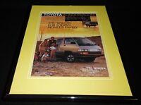 1987 Toyota WonderWagon Framed 11x14 ORIGINAL Vintage Advertisement