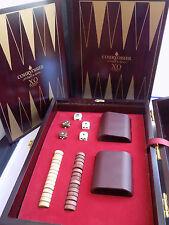Rare Courvoisier Le Cognac de Napoleon Cognac Backgammon Set w/ Wood Box