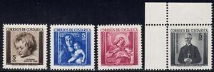 1963 Costa Rica SC# RA16-RA19 - Postal Tax Stamps - M-H