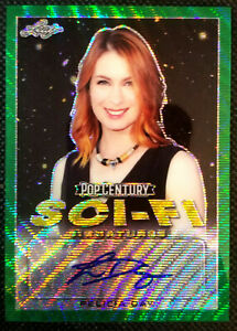 2019 LEAF POP CENTURY SCI-FI SIGNATURES SFS-F01 FELICIA DAY GREEN #2/4 *WOW*