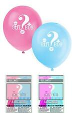 """Latex Gender Reveal Balloons 12"""" Helium Quality Girl Or Boy 8Ct Free Shipping"""